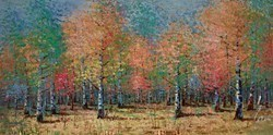 Woodland Rainbow I by Inam -  sized 56x28 inches. Available from Whitewall Galleries